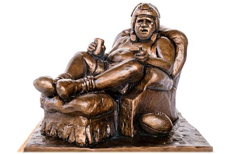 Armchair Quarterback Trophy Fantasy Football Trophies With Perpetual Trophy Base