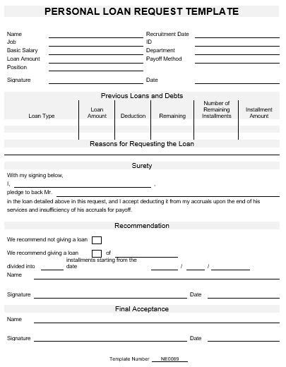 ne0069 template for request for a personal loan english