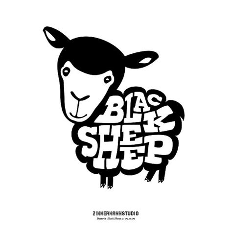 Gamis Black White Dannis No 10 zimmermann studio black sheep logo