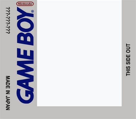 Gameboy Label Template By Cougarleon2 On Deviantart Gameboy Label Template