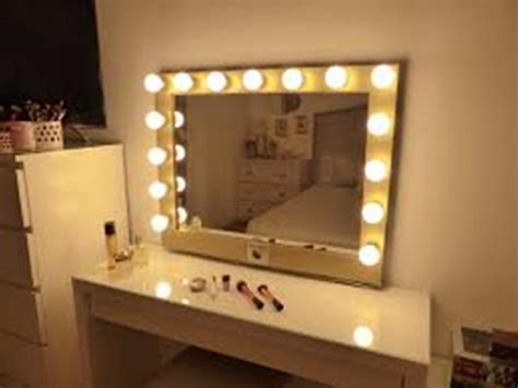 makeup dresser with mirror and lights cheap best vanity mirrors home design