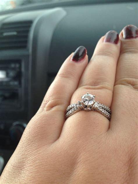 0 5 carat rings on size 10 finger weddingbee