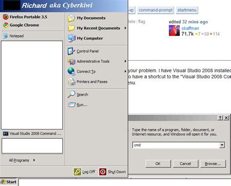 reset visual studio 2008 settings command windows xp go away quot visual studio 2008 command prompt