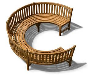 rounded benches henley 190 teak curved garden wooden bench