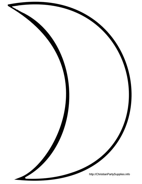 moon template crescent clipart clipart panda free clipart images