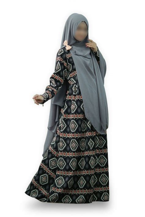 Dress Set Hitam Merah Lou cleo set hitam shafiqa gamis syar i fesya