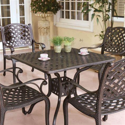 aluminum cast patio dining sets darlee nassau cast aluminum patio dining set with