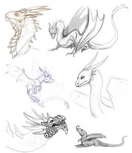 Dragon sketches by abelphee on deviantart