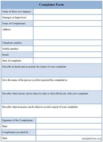 Customer Complaint Procedure Template by Complaint Form Template Sle Complaint Form Template