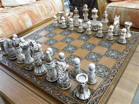 themed chess sets ornate themed chess set matching board by littleme1969 on