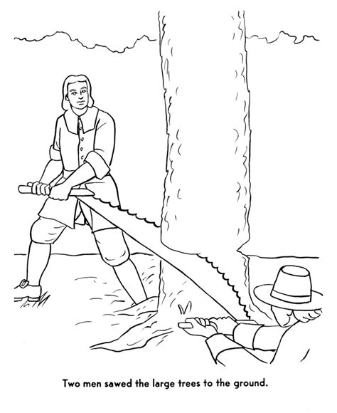 colonial life coloring pages sketch coloring page
