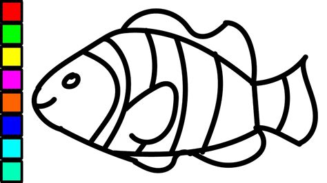 Coloring Pages Fish Nemo by Clown Fish Colouring For Coloring Pages