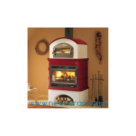 rivestimenti forni a legna stufa a legna ingrid con forno rivestimento in ceramica