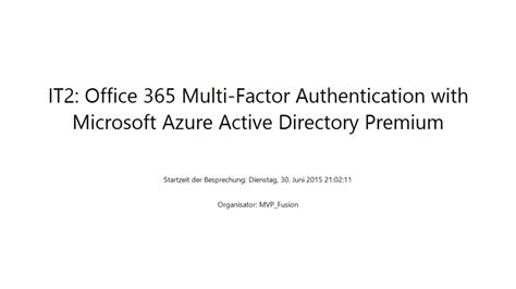 Office 365 Two Factor Authentication It Pro Office 365 Multi Factor Authentication With