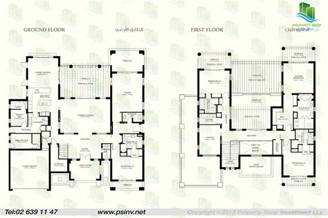villa floor plans 4 bedroom villa type b unit floor plan st regis villas st regis saadiyat island abu dhabi
