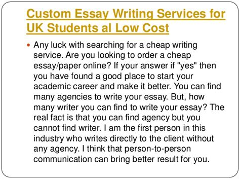 Cheap Custom Essay Writing Services by Custom Essay Writers In The Uk