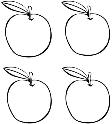 preschool coloring pages apples four apples coloring page kids coloring pages