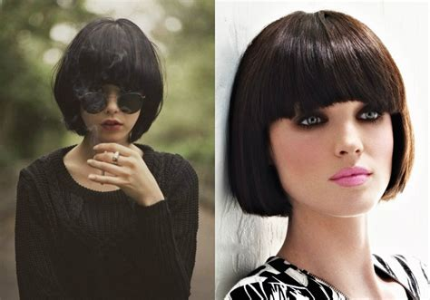 brunette bob hairstyles with bangs best classy bob haircuts with bangs hairdrome com