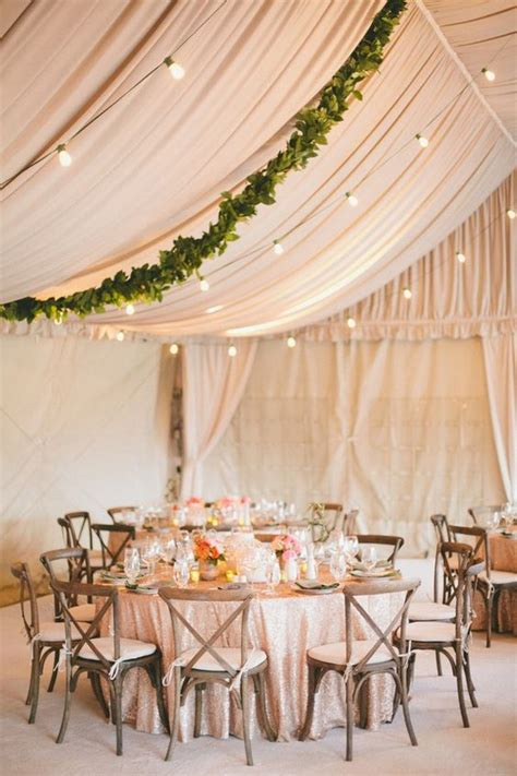 Ceiling Drapes For Rent 30 Chic Wedding Tent Decoration Ideas Deer Pearl Flowers
