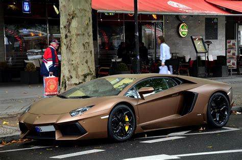Brown Lamborghini Lamborghini Aventador In Matte Brown Looks Like Chocolate