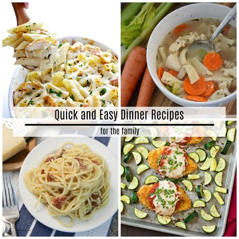 quick and easy dinner recipes the idea room