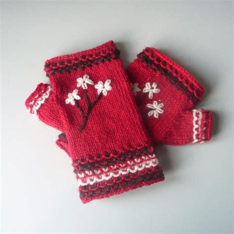 design embroidered gloves adding embroidery to your knitting