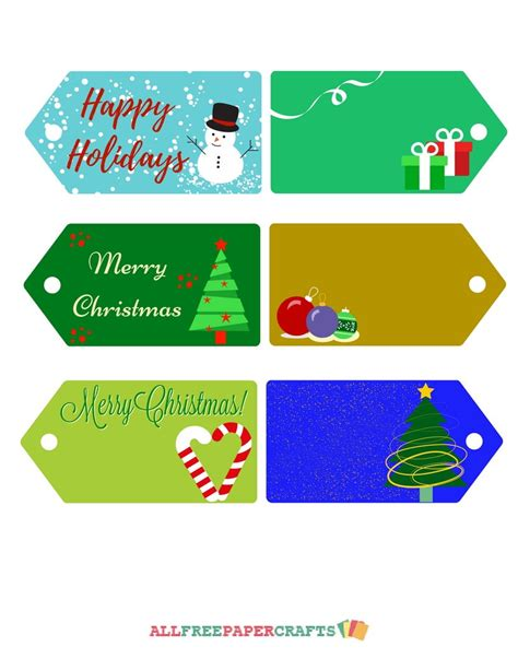 All Free Paper Crafts - joyful printable tags allfreepapercrafts
