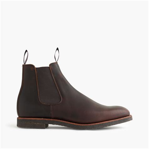 Alfred Sneaker Shoes Hm alfred sargent leather chelsea boot in brown for lyst