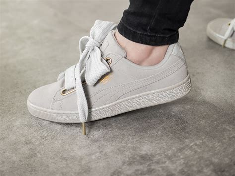 womens shoes sneakers puma suede heart satin