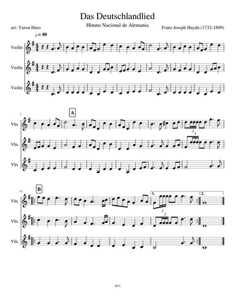 national anthem germany national anthem of germany das deutschlandlied musescore