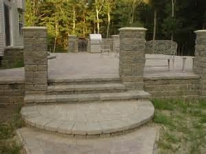 Raised Paver Patio Designs Building Paver Patio Built Raised Patio By Mpavers Inc
