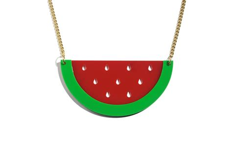 oh watermelon necklace on storenvy