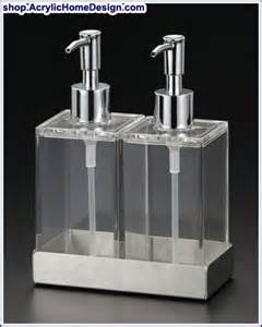Bathroom Body Works Twin Acrylic Dispensers For Liquid Soap And Lotion