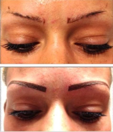 eyebrow tattoo aftercare semi or easy eyebrow cost and before after photos