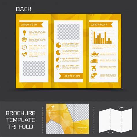 Tri Fold Brochure Paper - yellow logistics paper brochure leaflet tri fold design