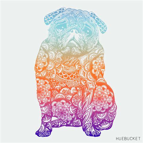 see pug run book mandala pug id 318 by huebucket pugs pugs pugs mandala pug