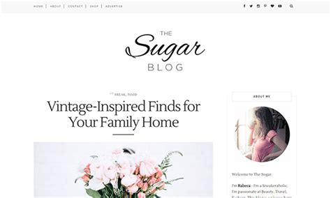 free girly templates for blogger sugar blogger template