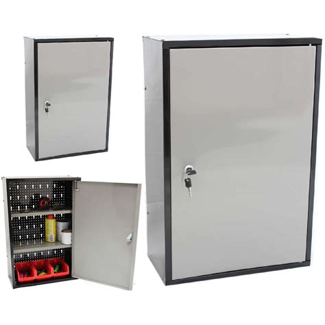 wall mounted storage cabinet silver color metal garage storage wall mounted cabinet for
