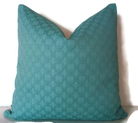 Aqua Pillow Cover by Turquoise Pillow Cover Solid Aqua Decorative Pillow Cover