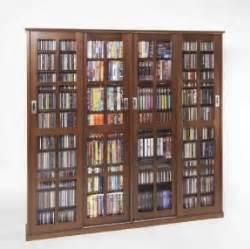 Glass Door Dvd Storage Cabinet Cd Storage Cabinet With Doors Foter