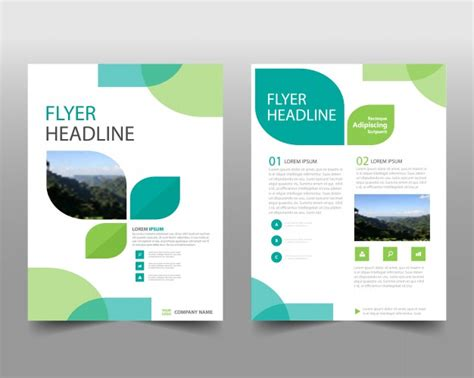 free report layout design annual report design in eco style vector free download