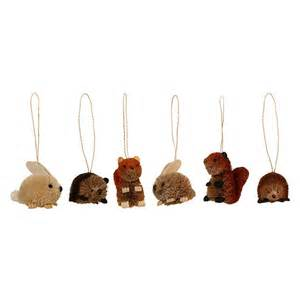 woodland creatures christmas decorations from the national