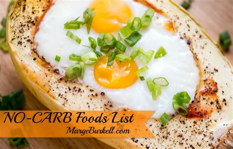 o carb vegetables no carb foods list on low carb