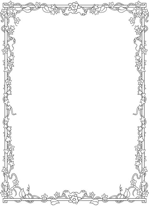 leaf border coloring pages 1000 images about frames borders on pinterest leaf