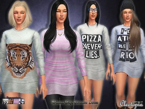 oversized sweater sims 4 cc 176 best images about sims 4 female clothing on pinterest