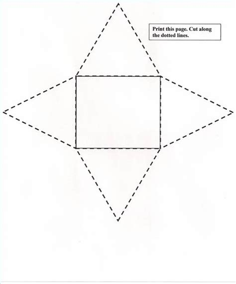 pyramid template free square based pyramid net coloring pages