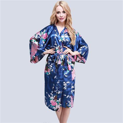 robe de chambre femme moderne femme peignoir satin kimono nuisette robe de nuit chambre ebay