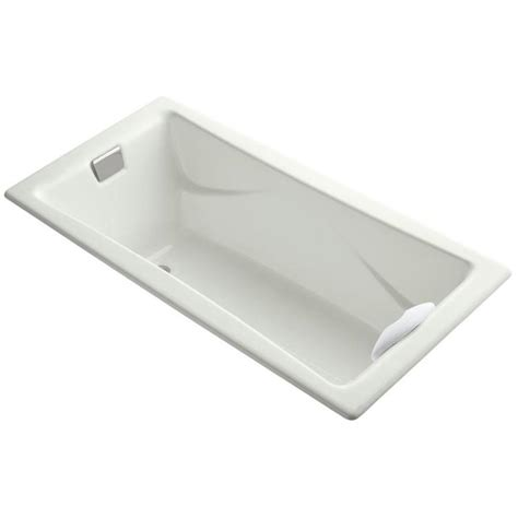 kohler tea for two shop kohler tea for two 71 75 in dune cast iron drop in bathtub with reversible drain at lowes