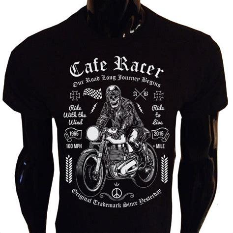 tshirt cafe racer california cafe racer t shirt s 5xl screenprinted biker skeleton