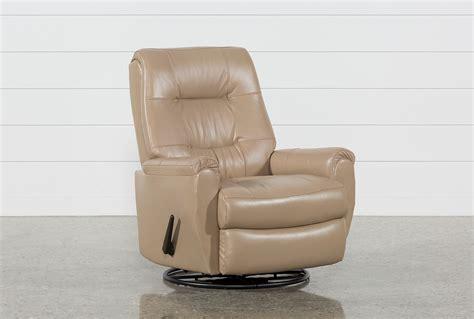 living spaces recliner sofa rogan leather cafe latte swivel glider recliner living